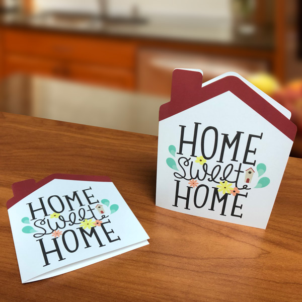 House-Shaped Notecards