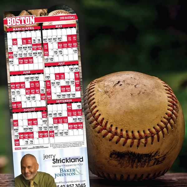 Magnetic Baseball Schedules