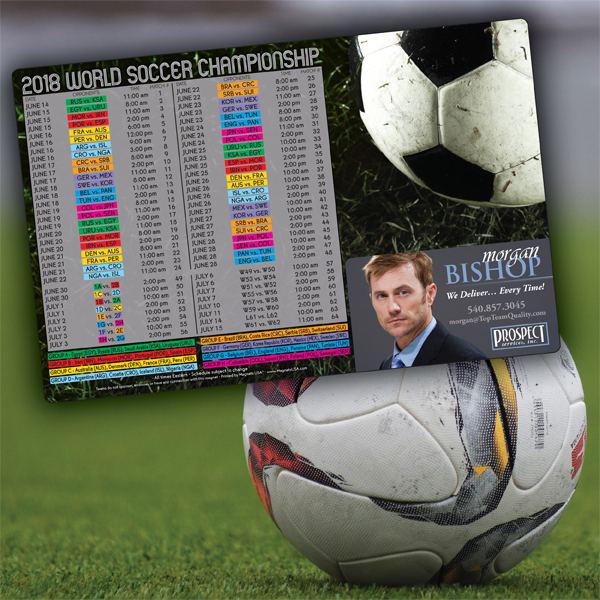 Magnetic Soccer Schedules
