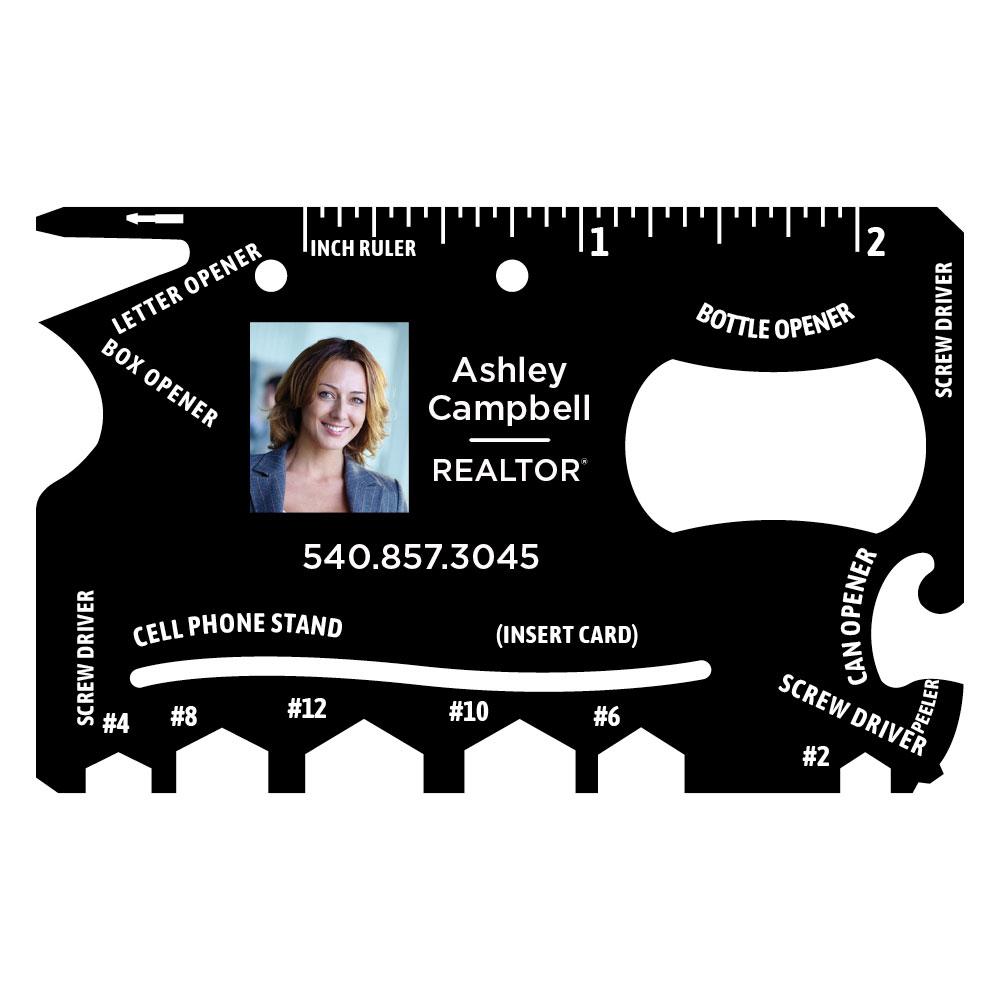 credit card multi tool custom photo
