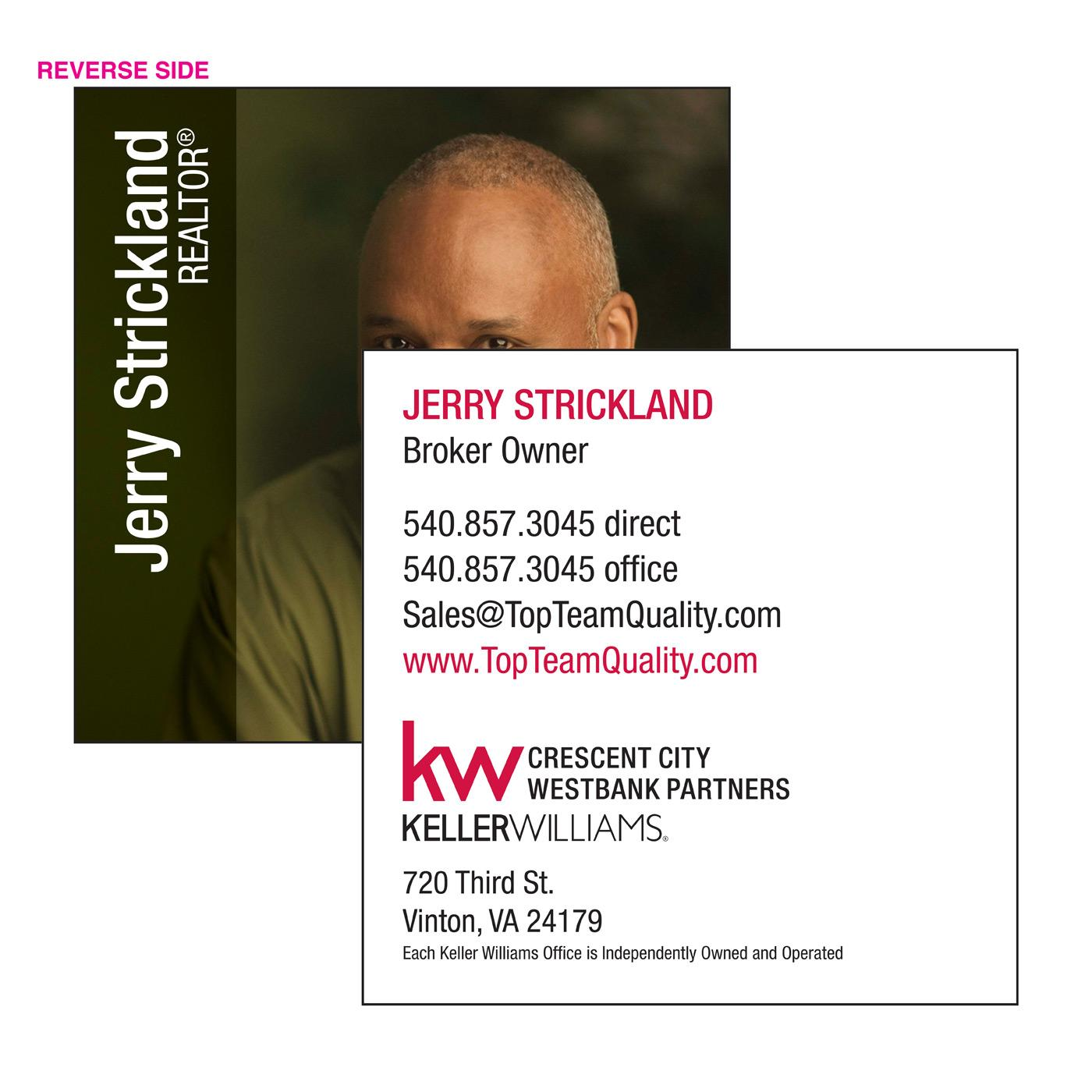 KW Square Business Card