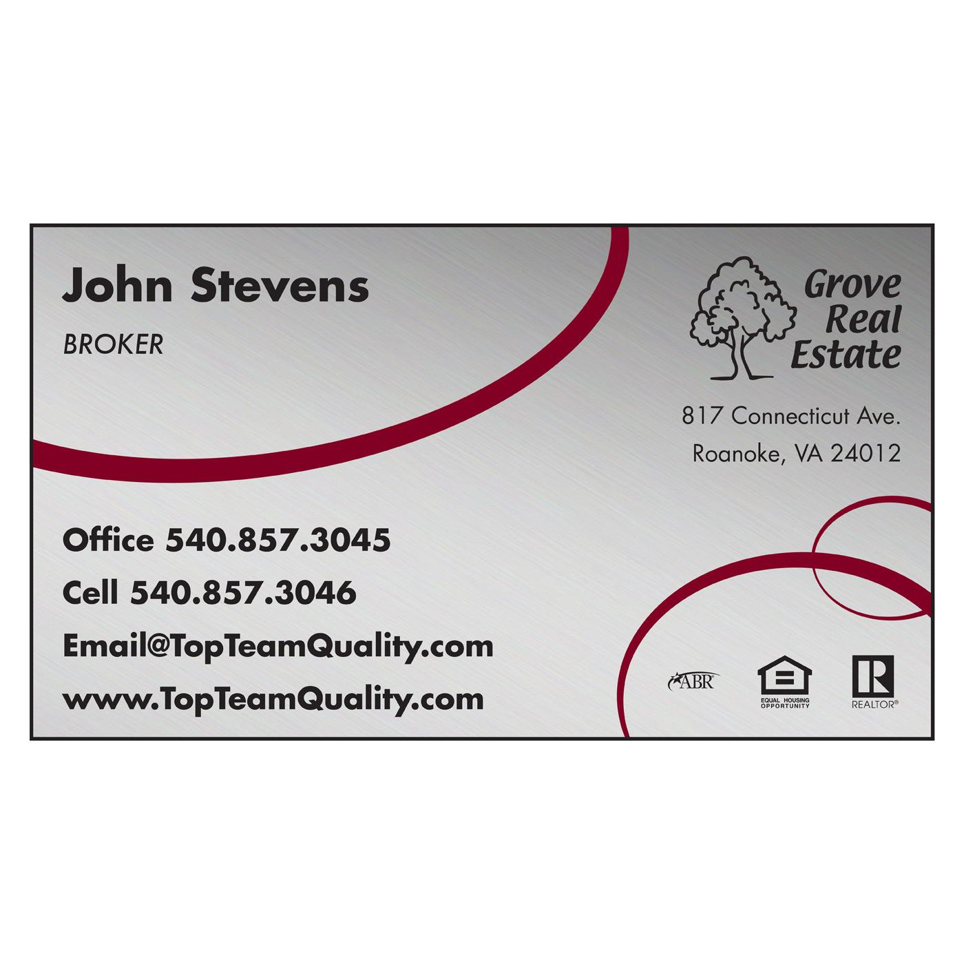 card stock business card