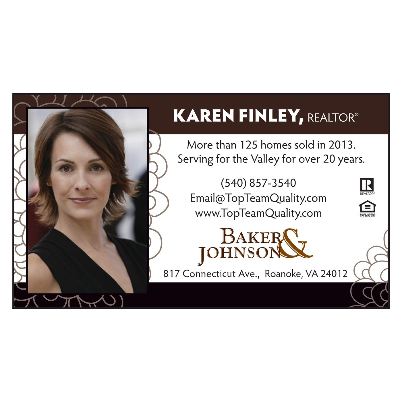 real estate standard business card