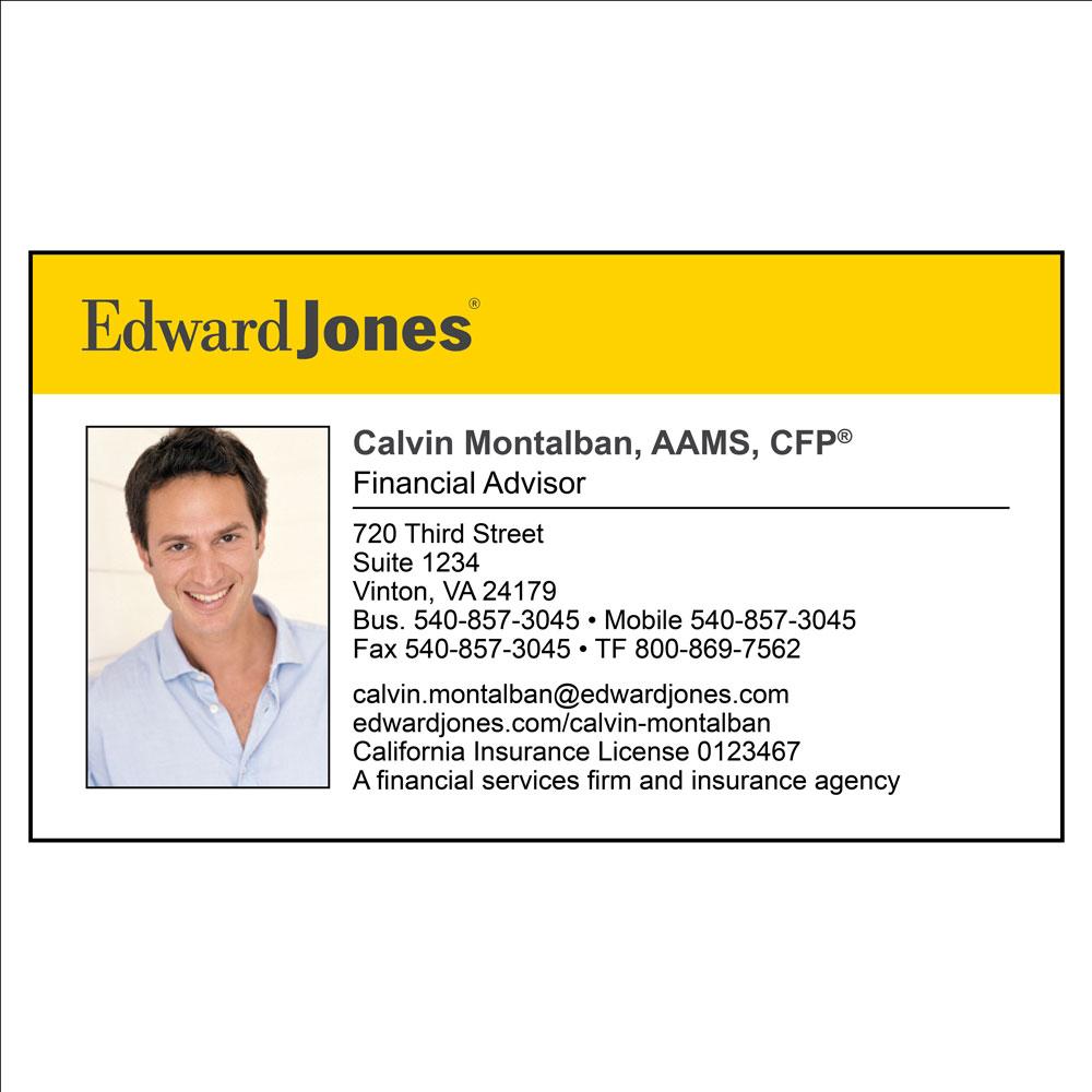 Edward Jones business card