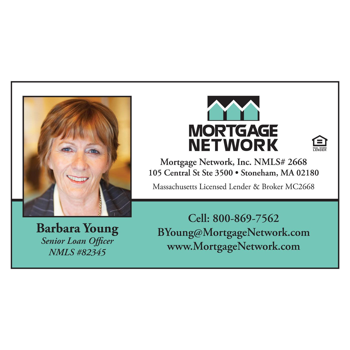 Mortgage Network business card