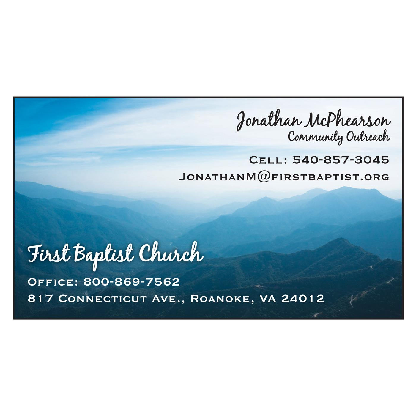 Church business card