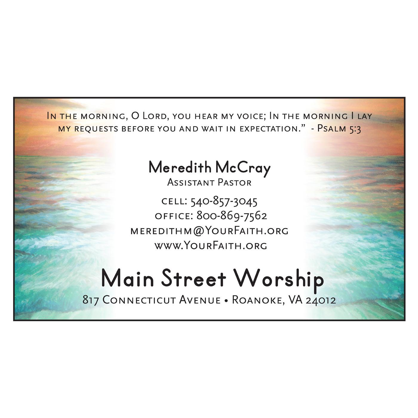 church organization business card