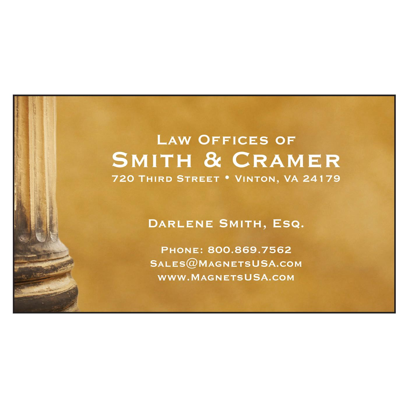 Law Office Paper Business Card