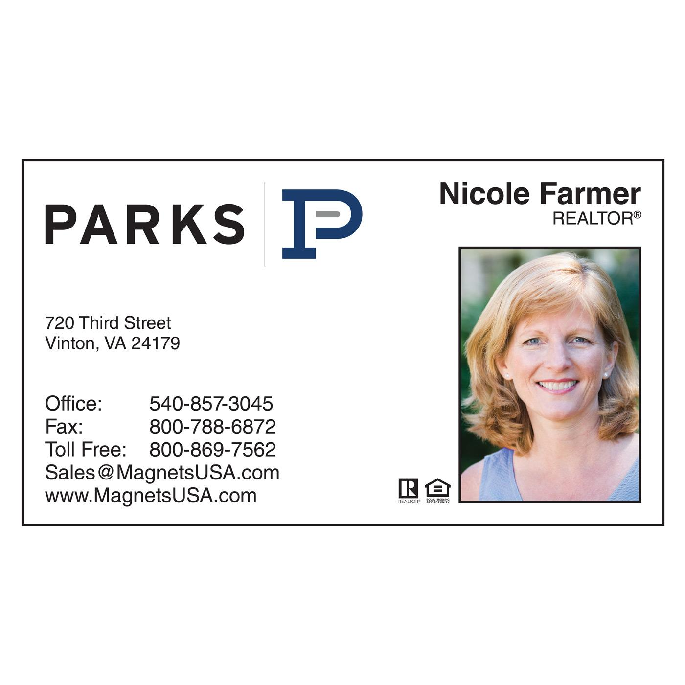 Parks Realty Paper Business Card