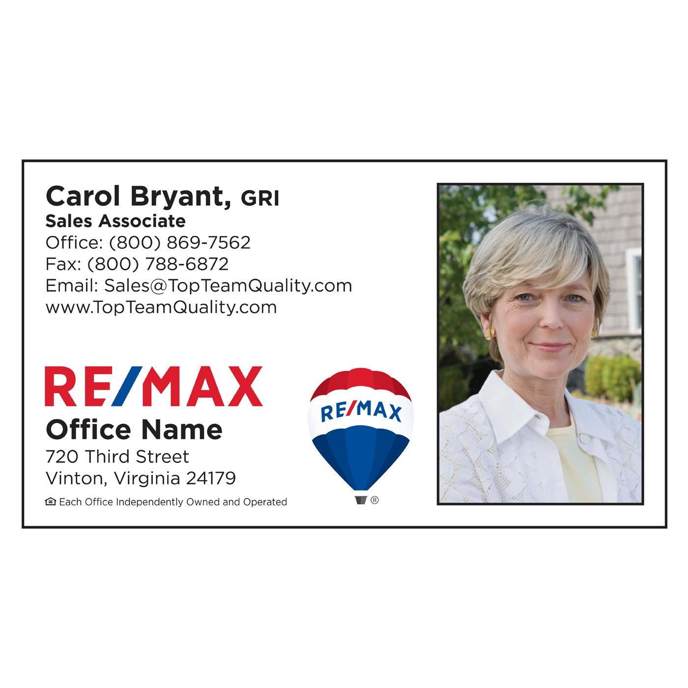 RE/MAX Classic White Business Card