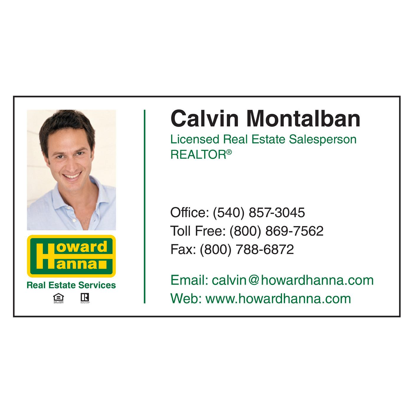 Howard Hanna Paper Business Card