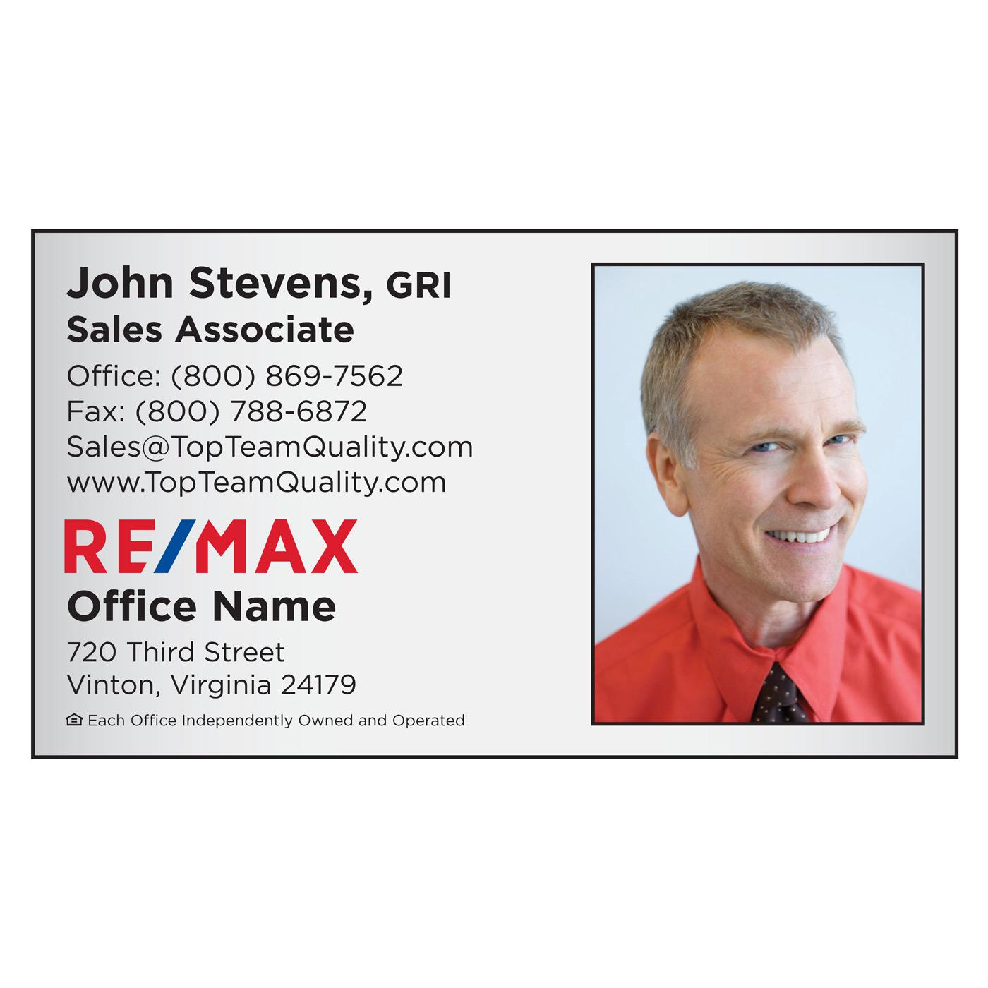 RE/MAX Photo Business Card