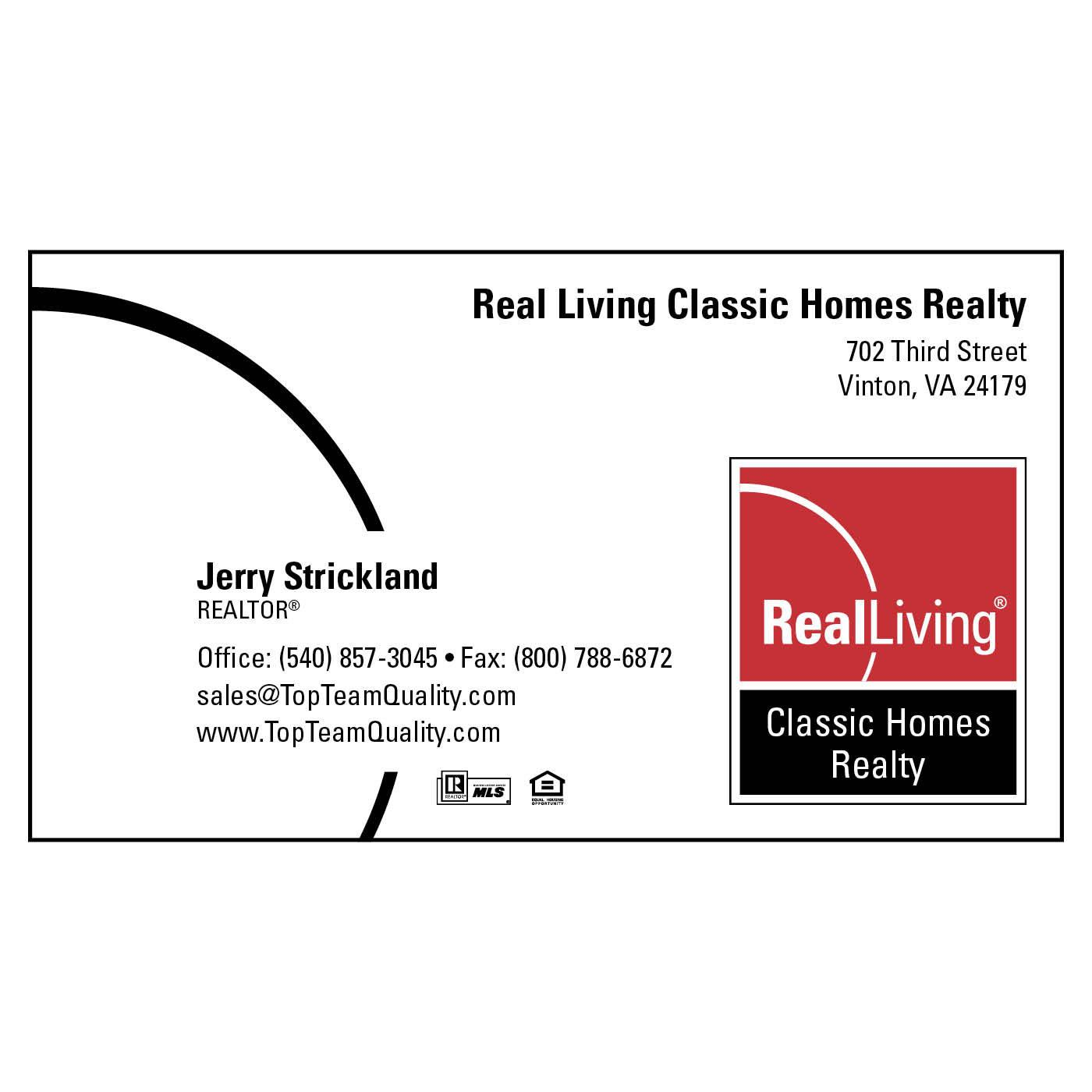 Real Living Paper Business Card