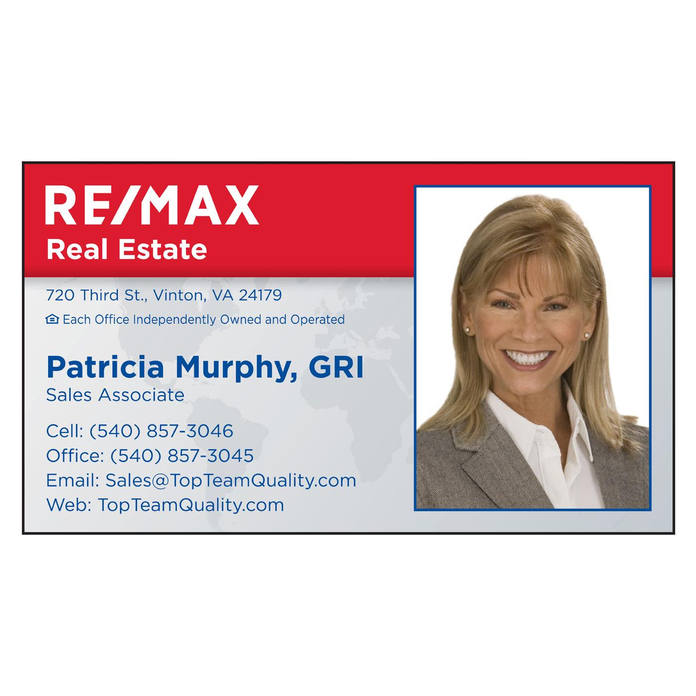 Photo Right RE/MAX Business Card