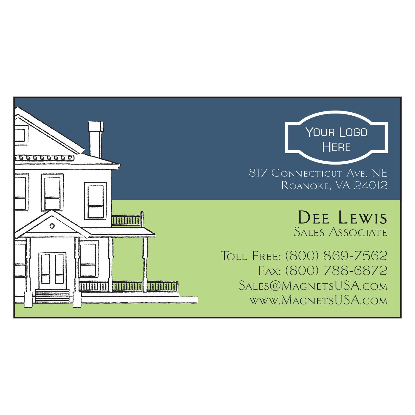 House Design Paper Business Card