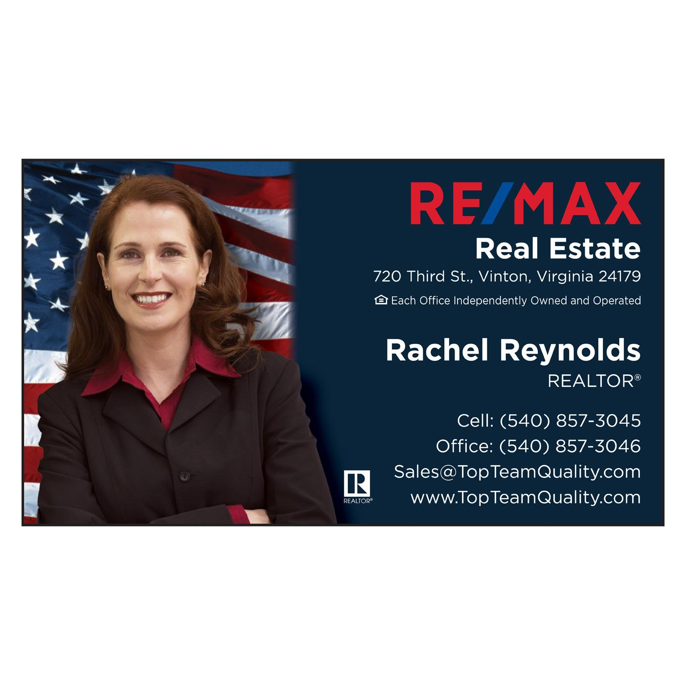 RE/MAX Flag Standard Business Card