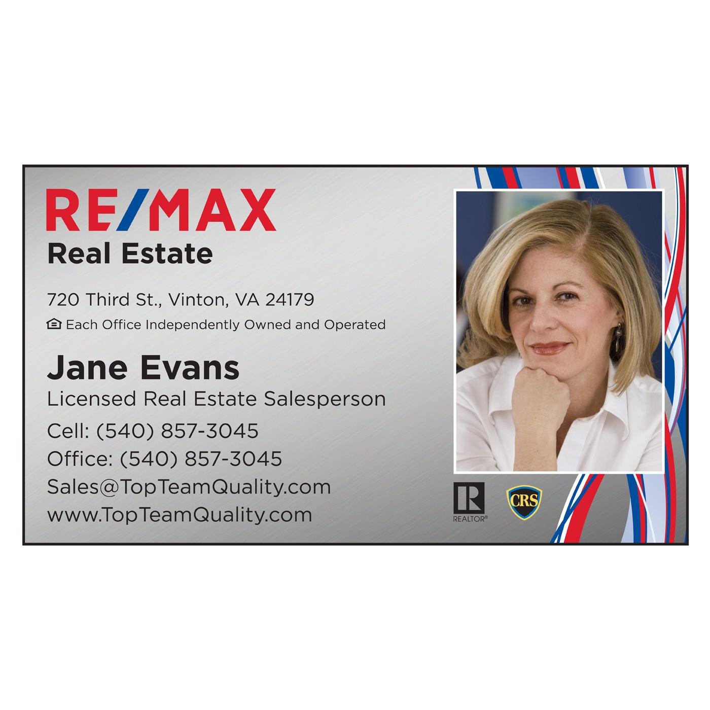 RE/MAX standard business card