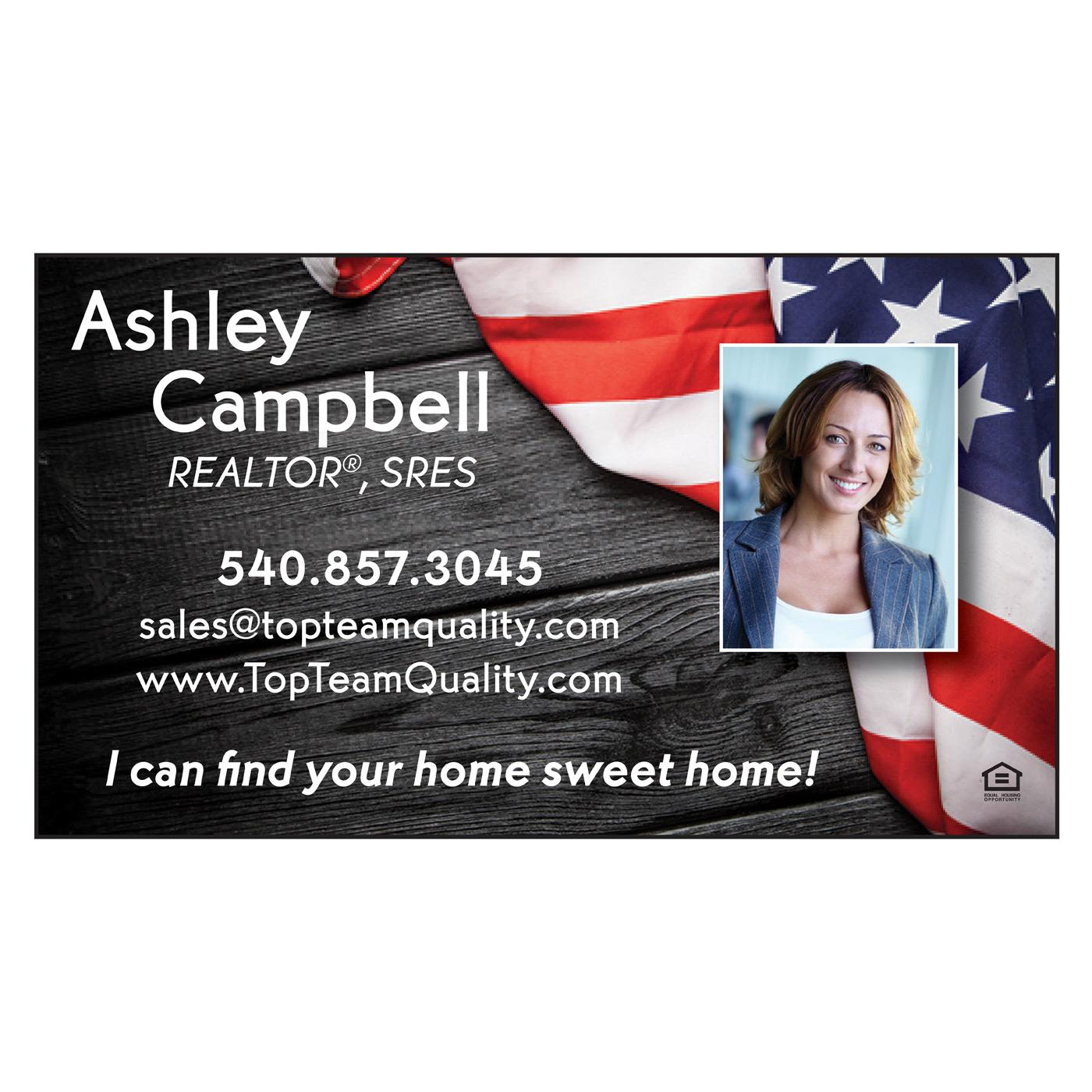 American Flag Paper Business Card