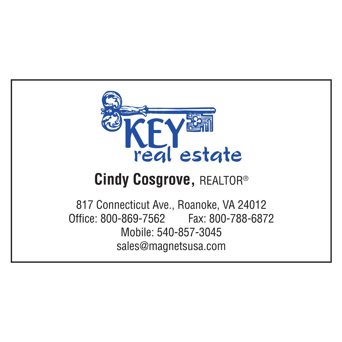 business card with prominent logo