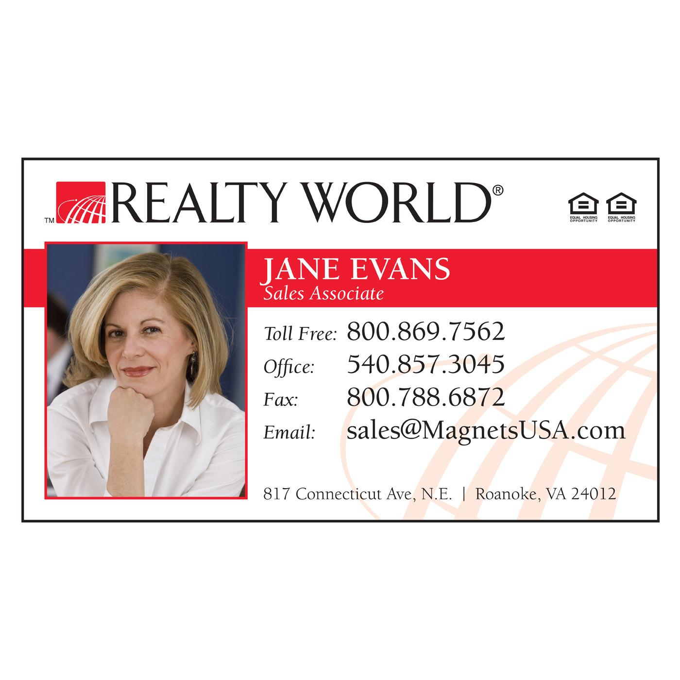 Realty World Paper Business Card