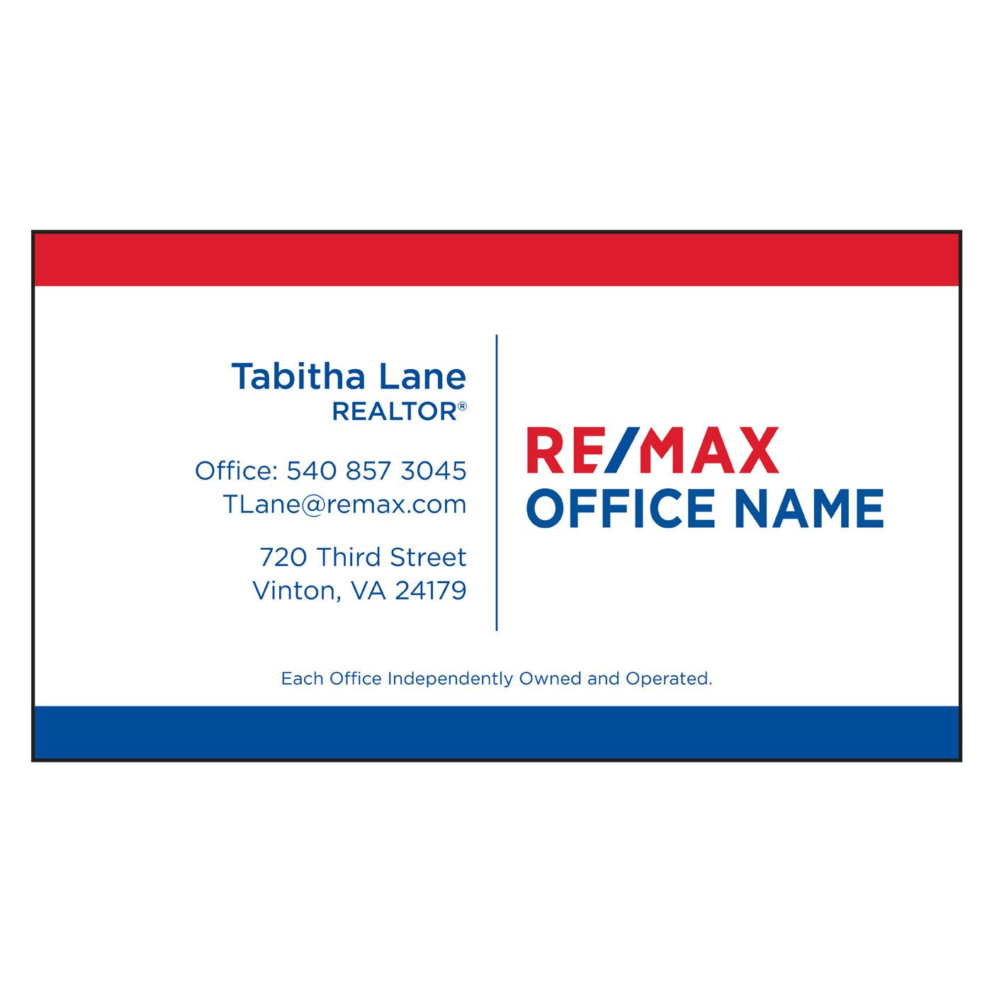 RE/MAX Classic Text Business Card