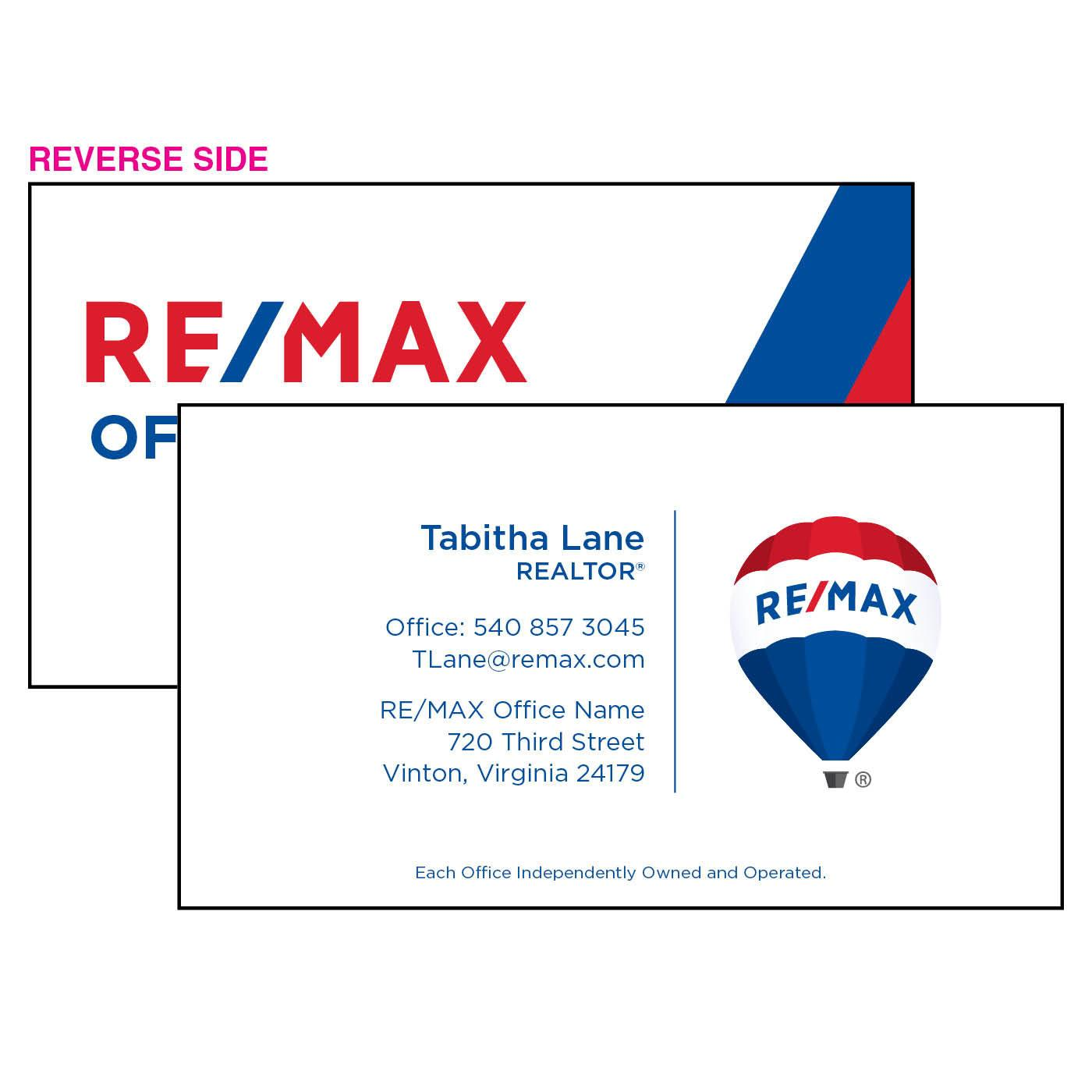 RE/MAX Balloon Business Card