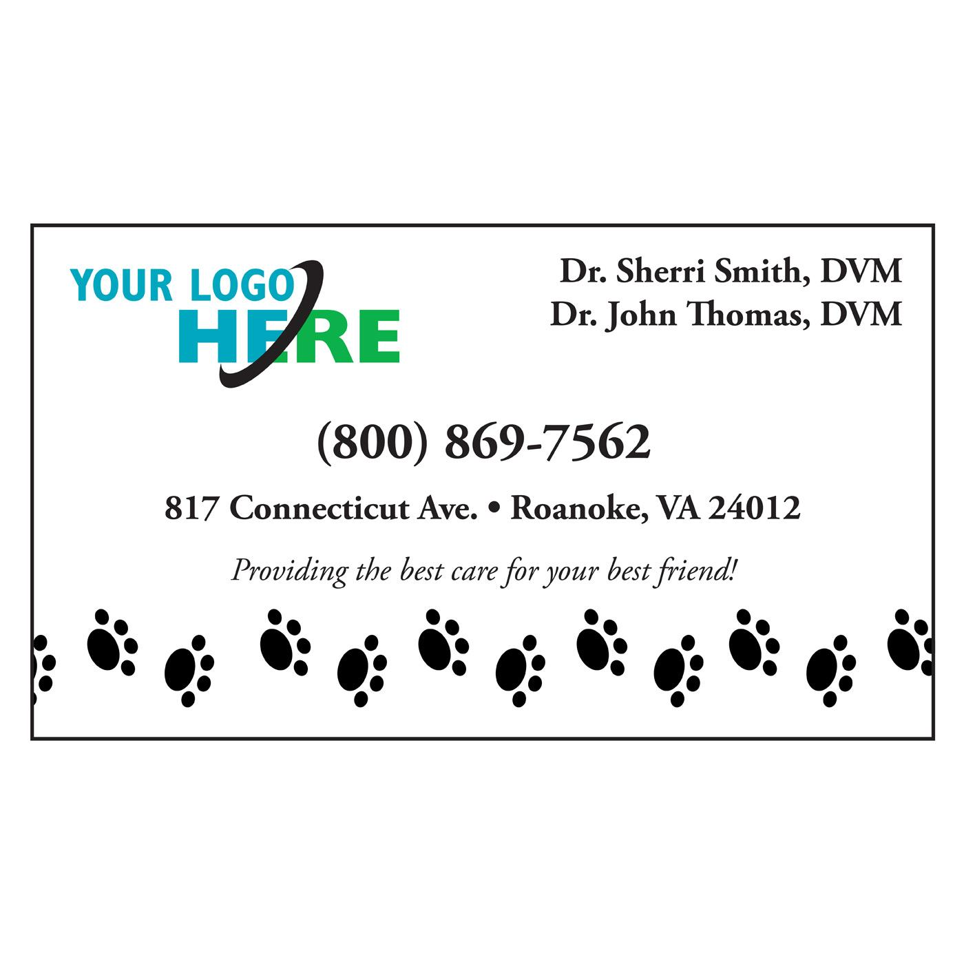 Dog Prints standard business card