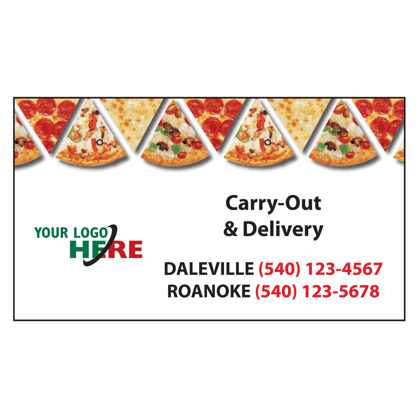 pizza-themed business card