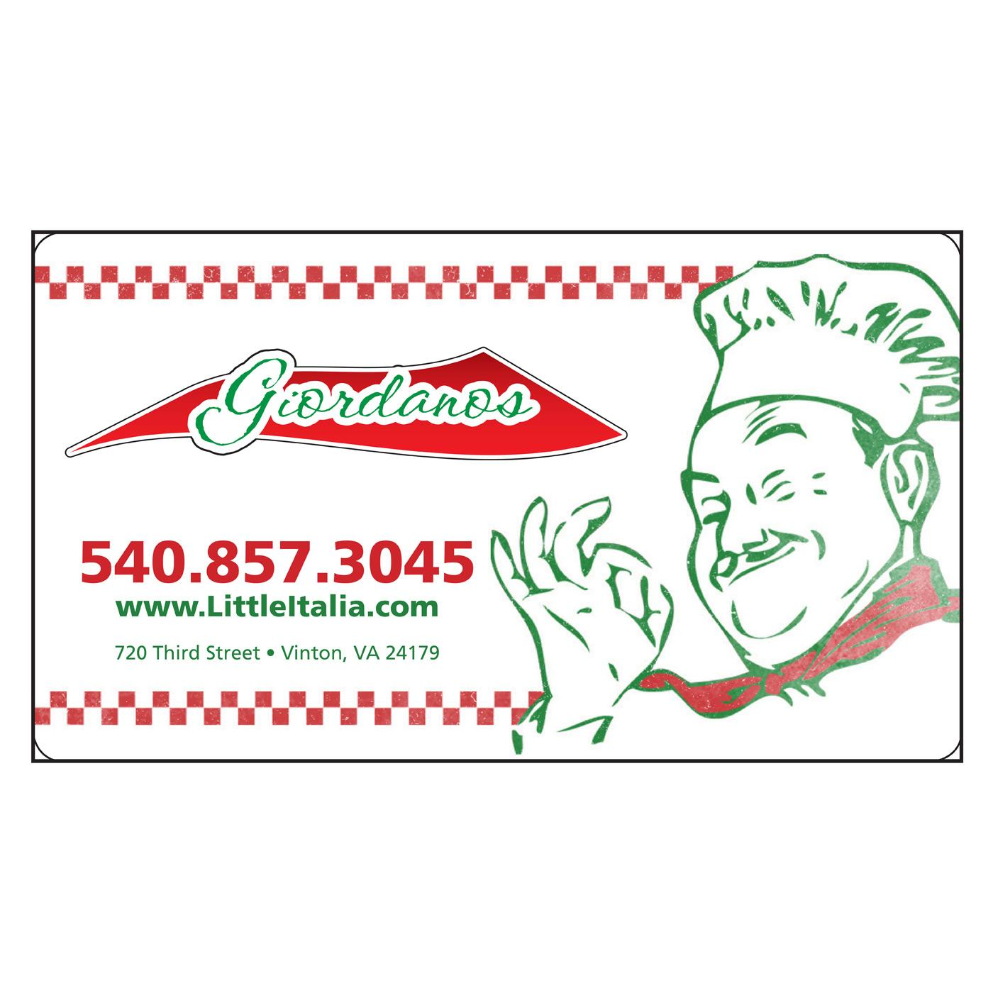 Italian restaurant business card