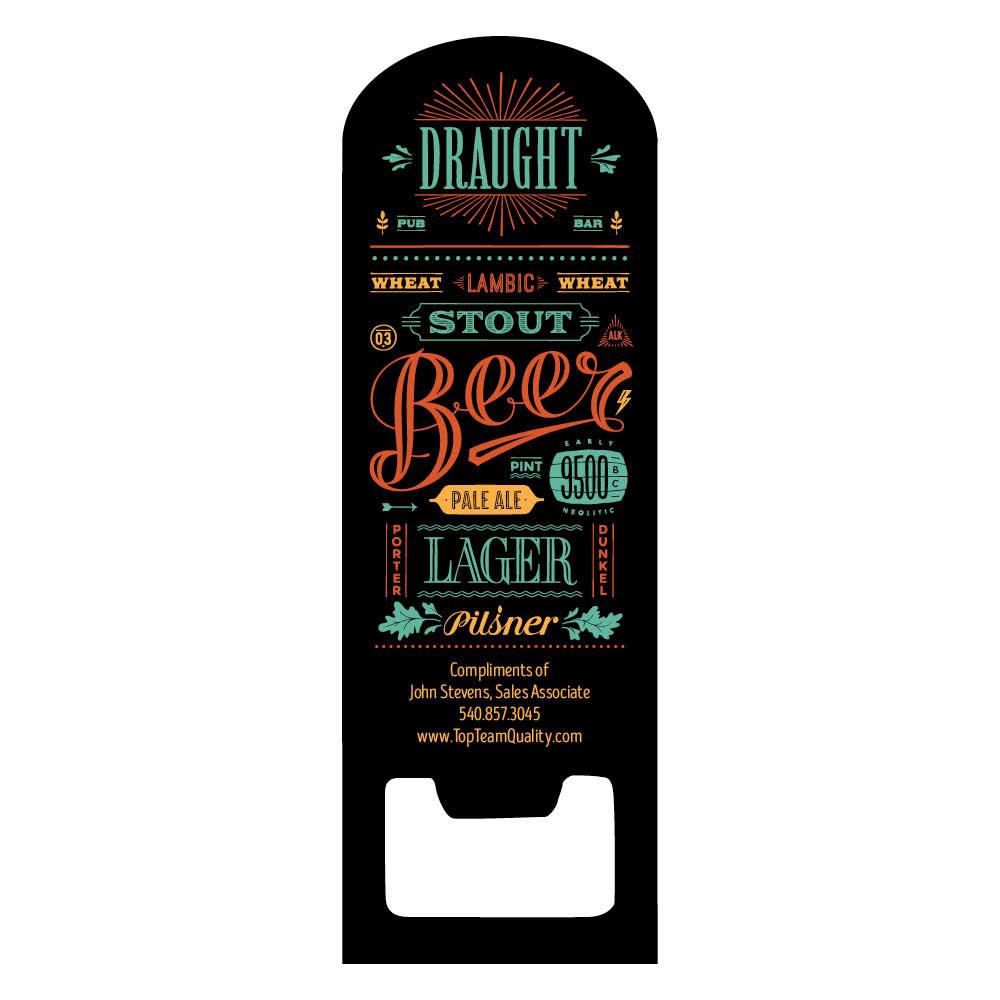 fridge magnet beer bottle opener