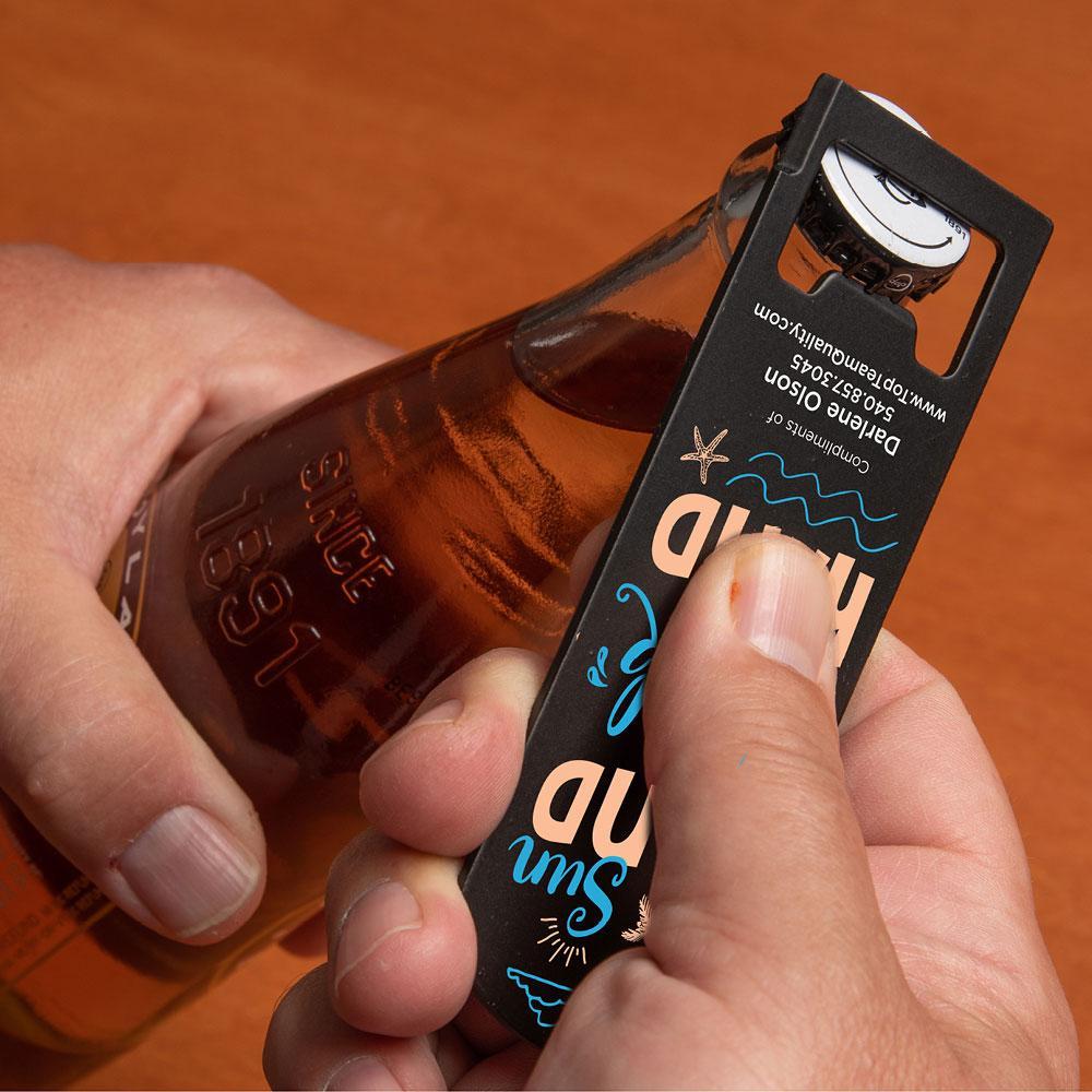 beach themed bottle opener custom