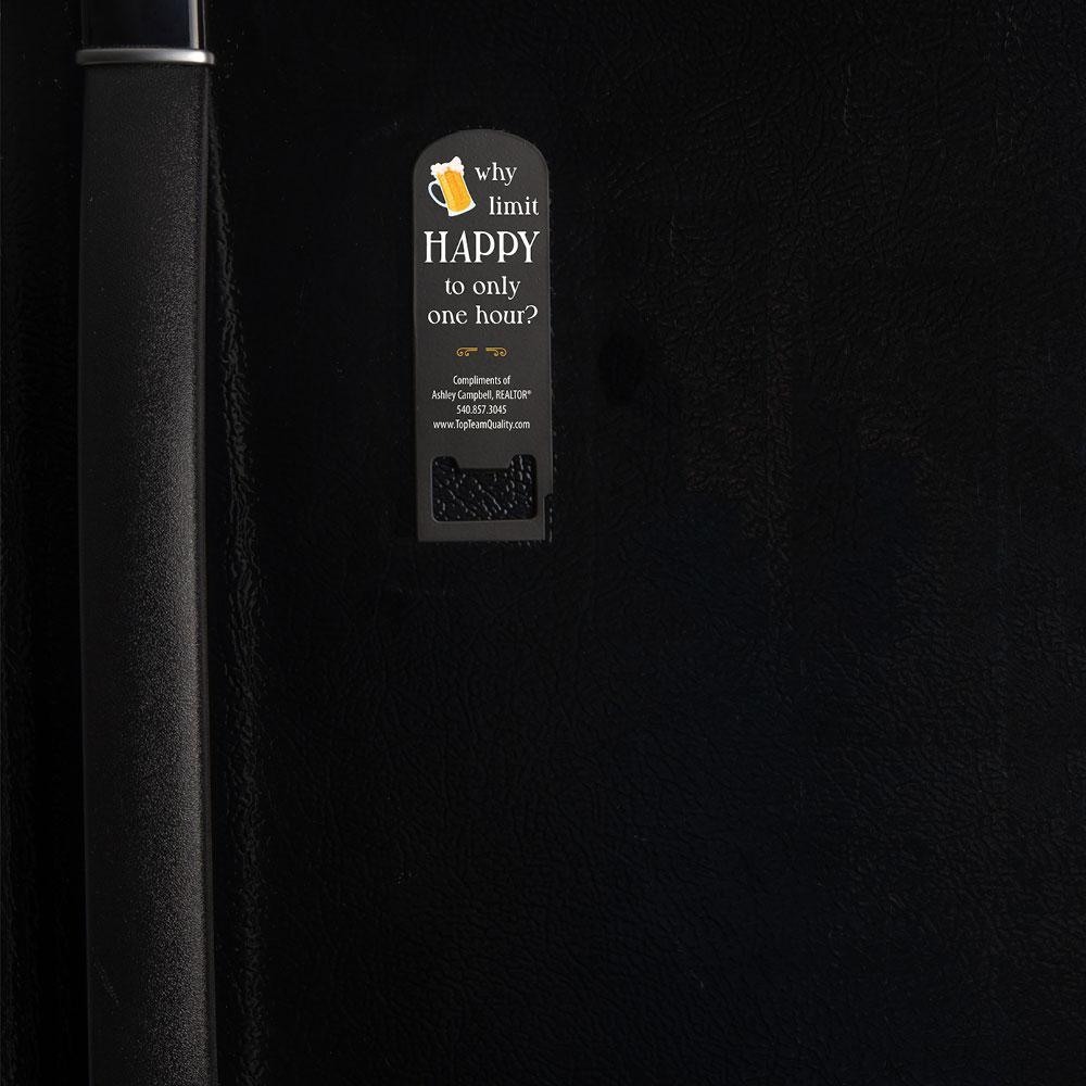 bottle opener with magnet on back