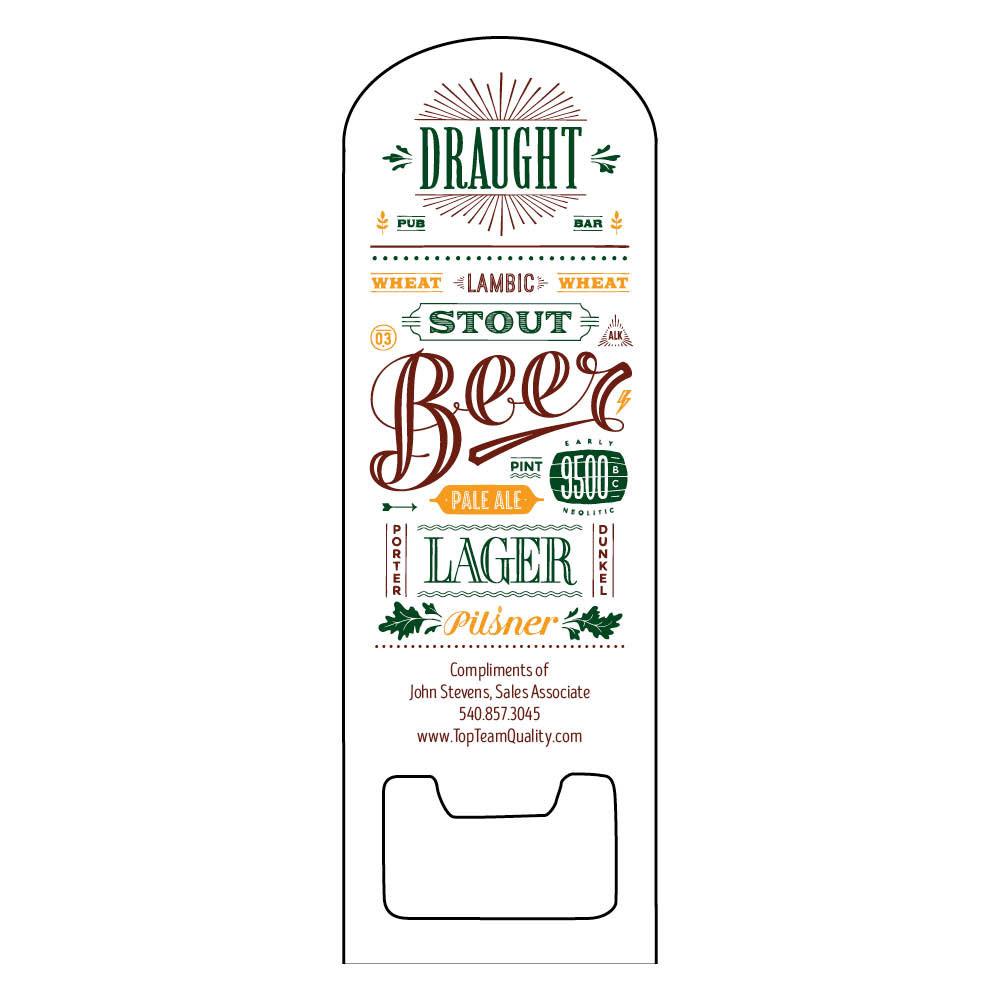 personalized beer bottle opener