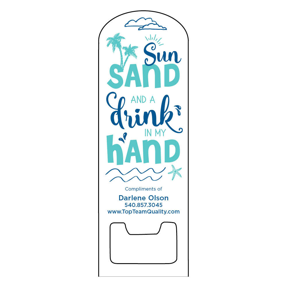 magnetic beach bottle opener