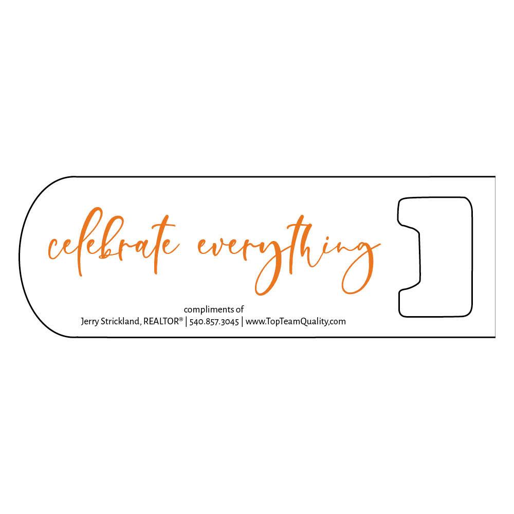 personalized bottle opener orange