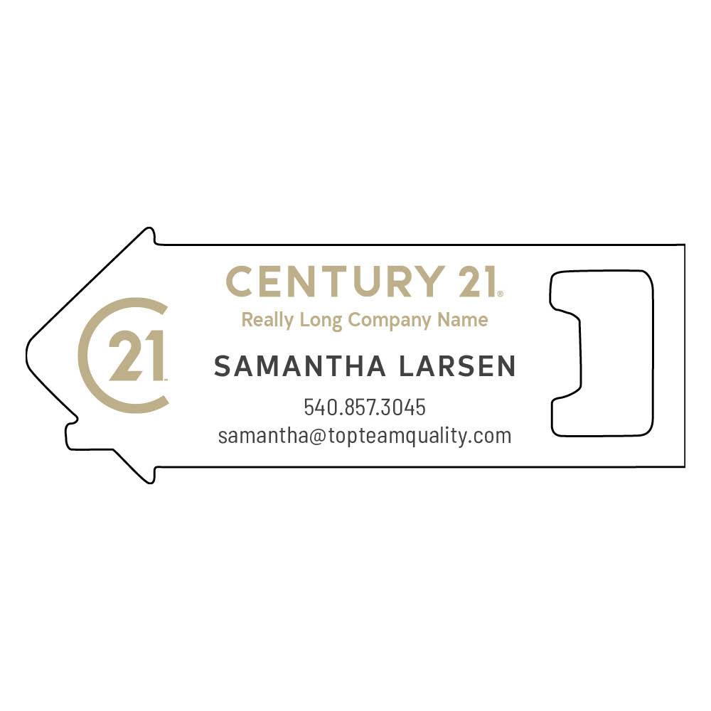 century 21 custom bottle opener