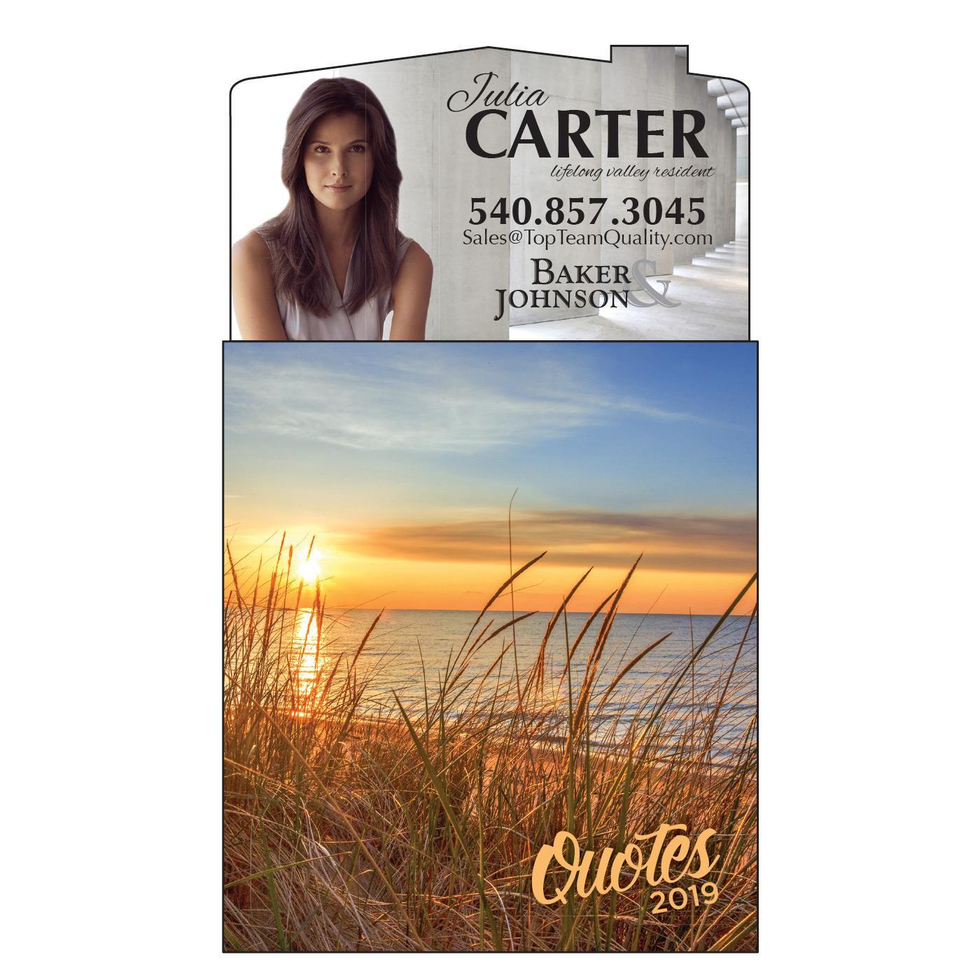 Magnetic Calendar with Beach Scene
