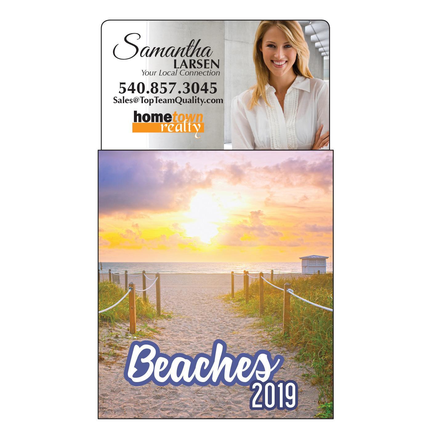 Beach-Themed Magnetic Calendar
