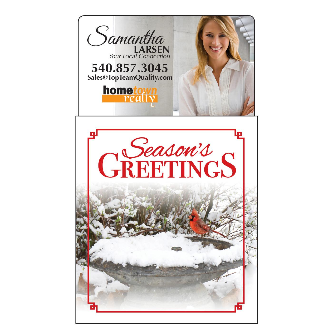 Season's Greeting Calendar Magnet