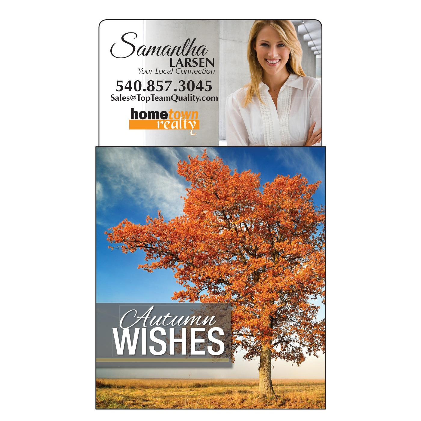 Magnetic Calendar with Fall Scene