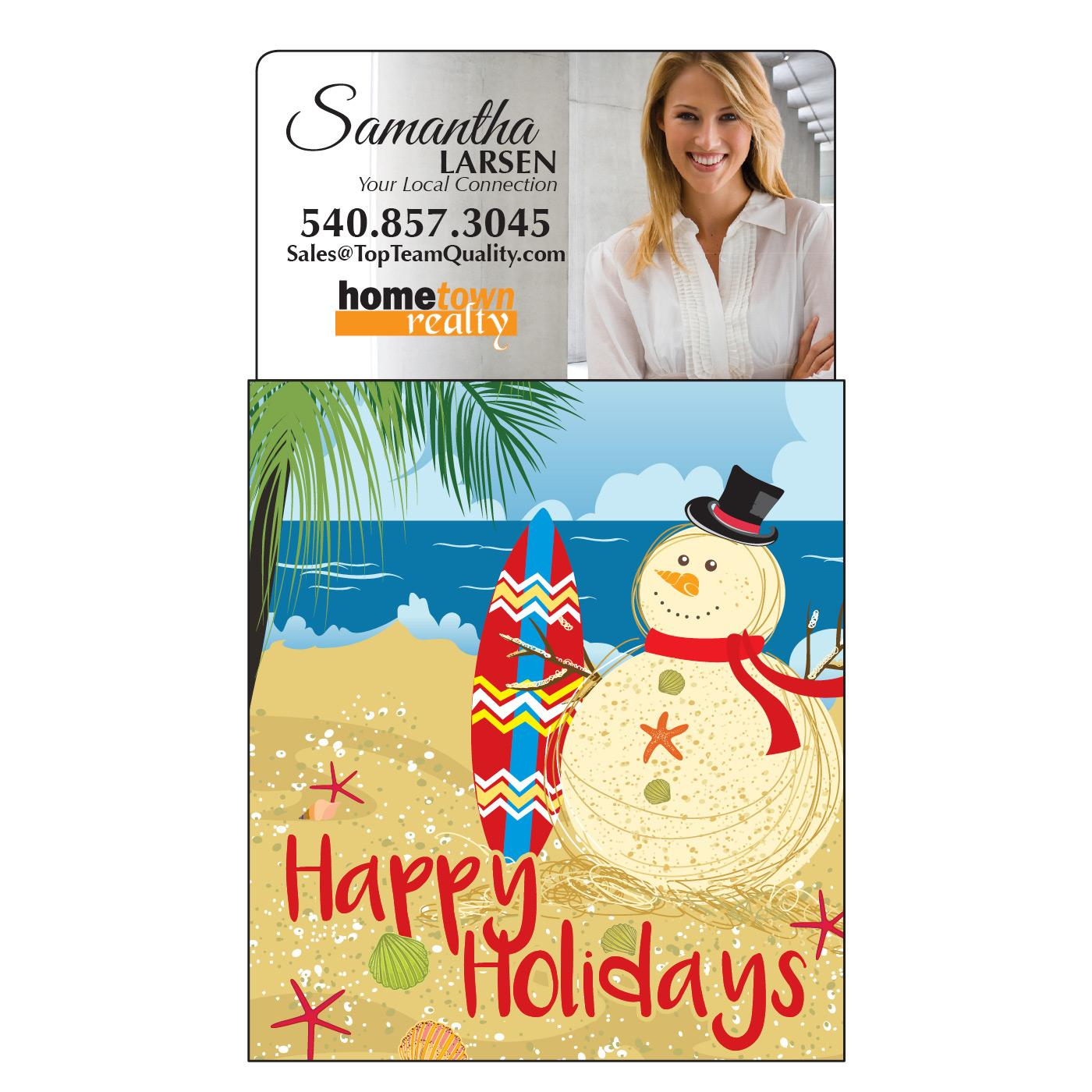 Calendar Magnet with Beach Snowman