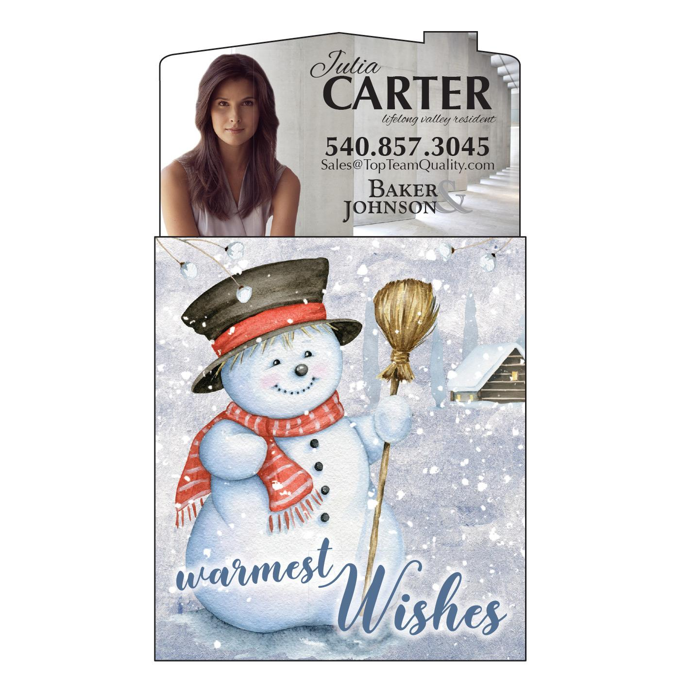 Calendar Magnet with Winter Scene