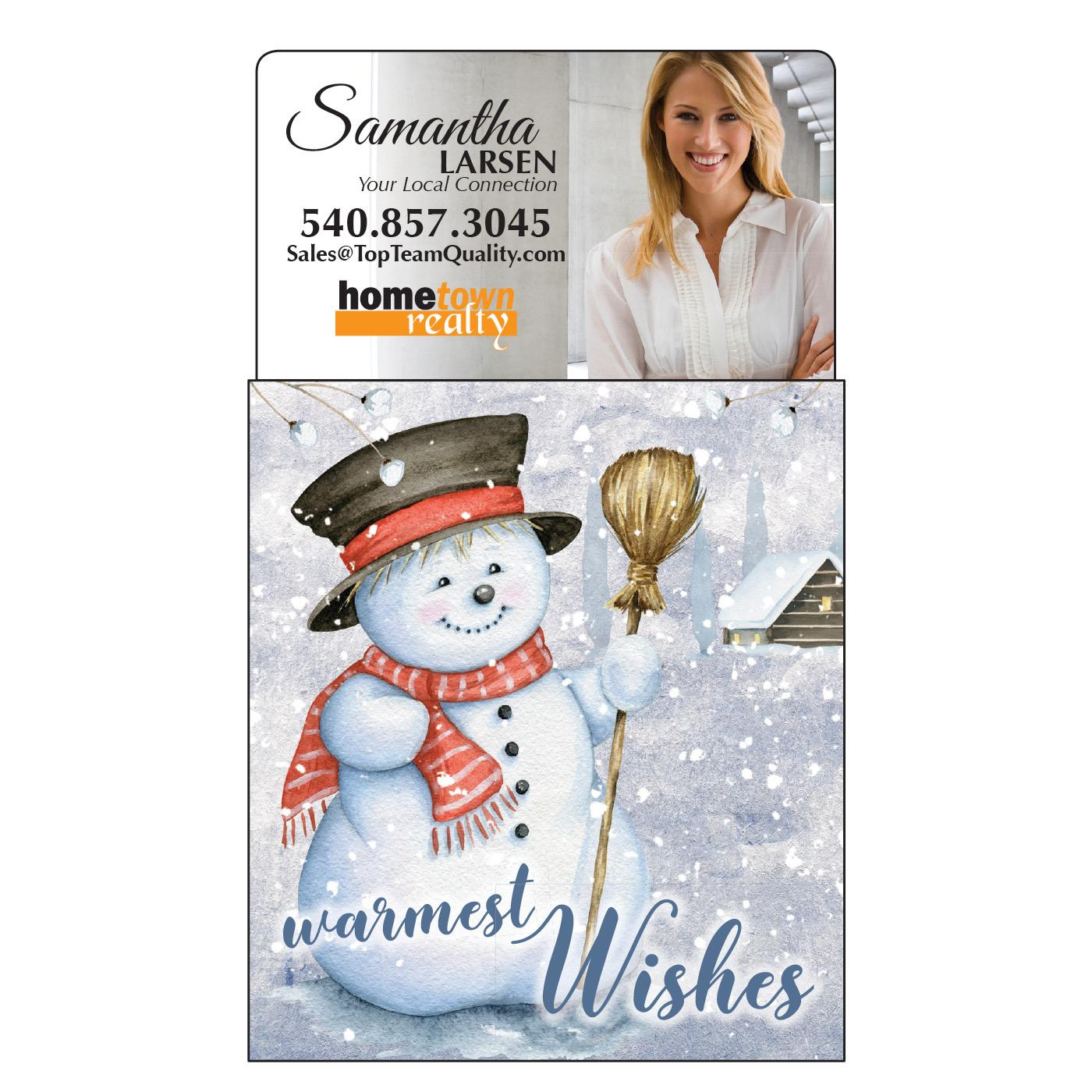 Calendar Magnet with Cute Snowman