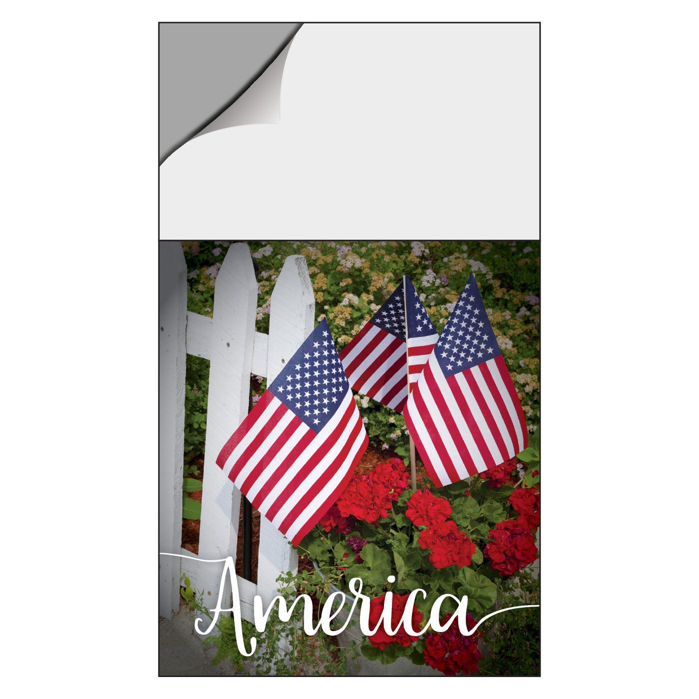 America-themed calendar magnet