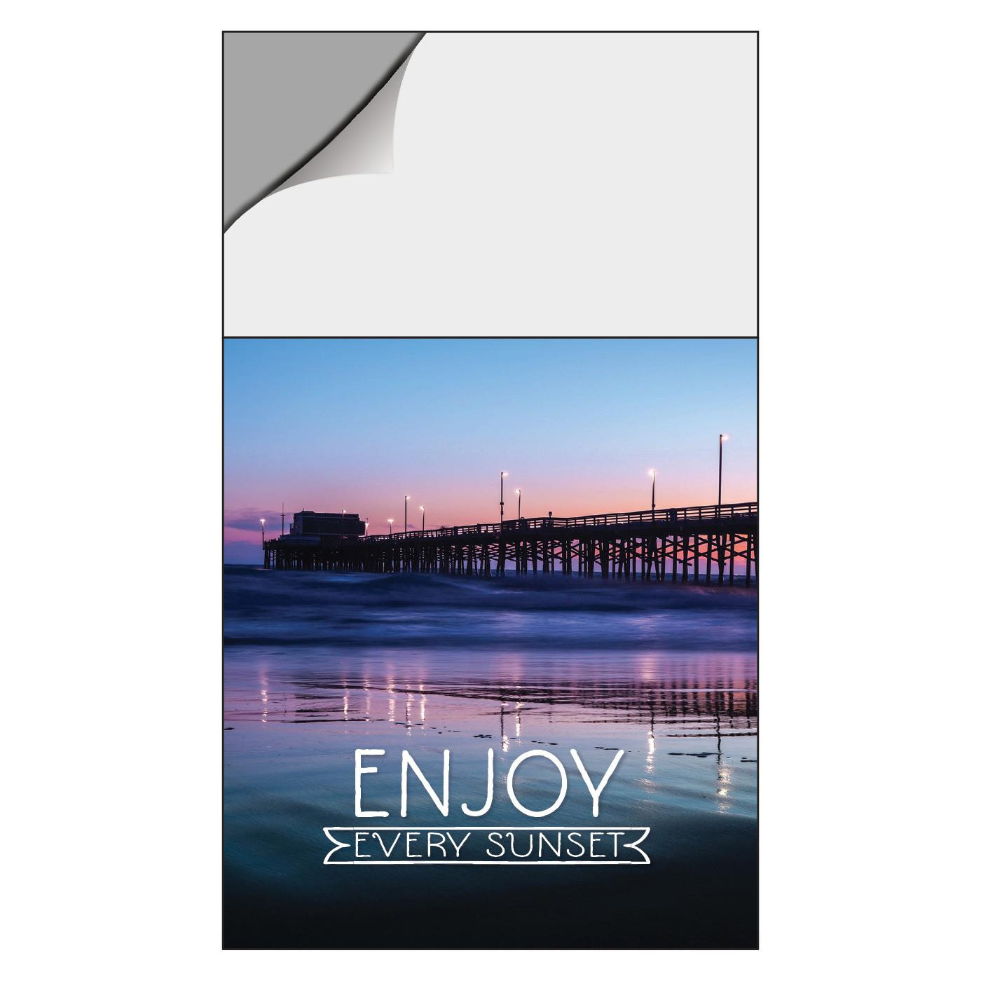Calendar Magnet with Pier at Sunset