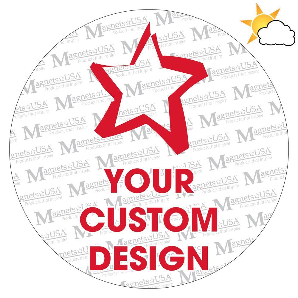 Circle Custom Design Car Magnet