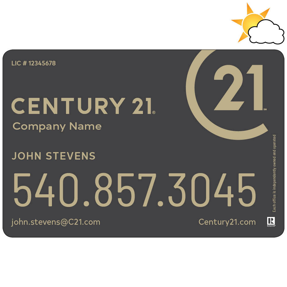 Century 21 Text Only Car Magnet