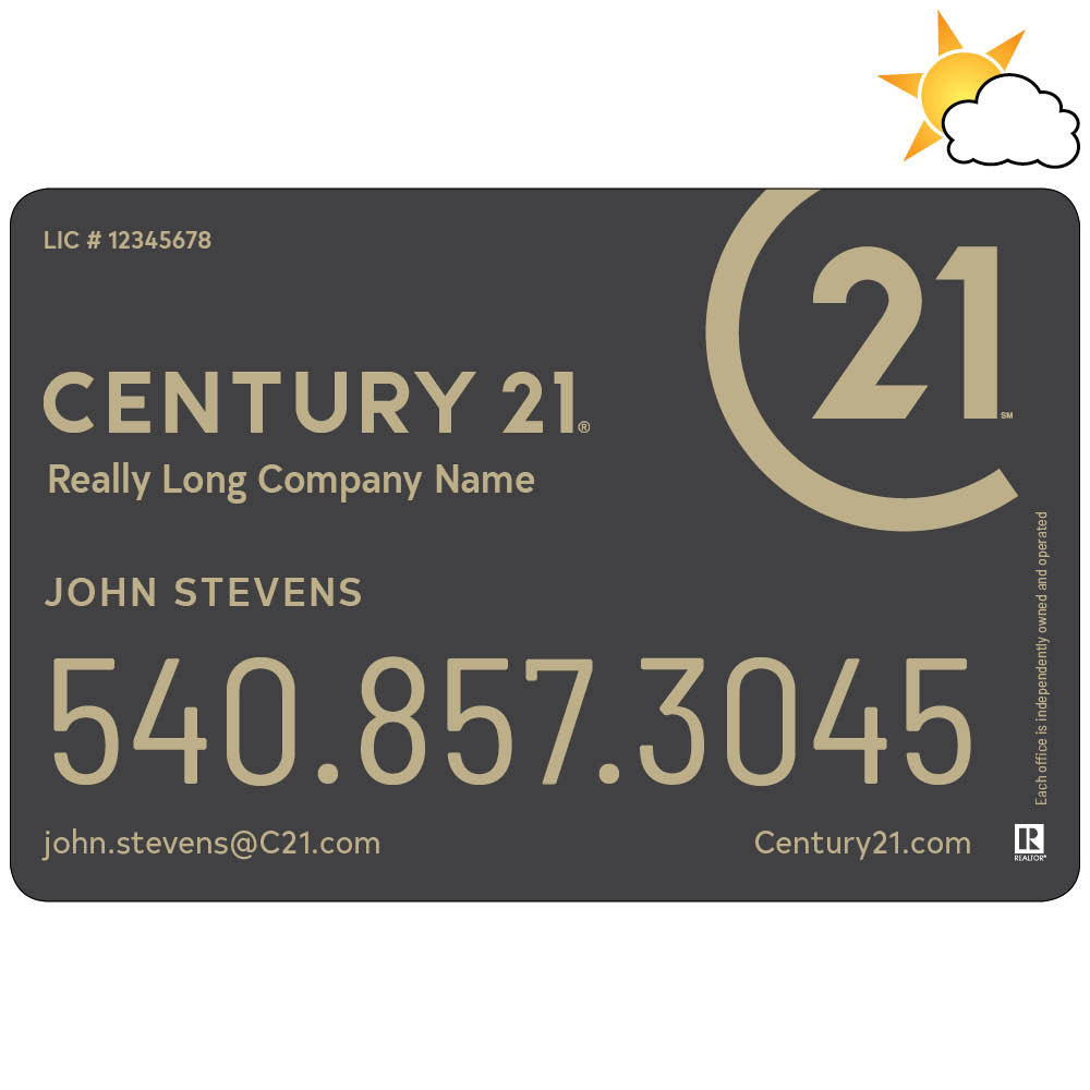Century 21 Car Magnet with Text
