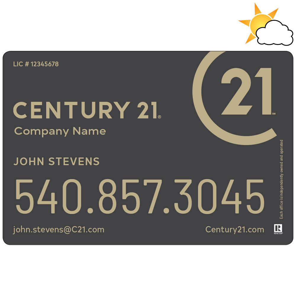 Text Only Century 21 Car Magnet