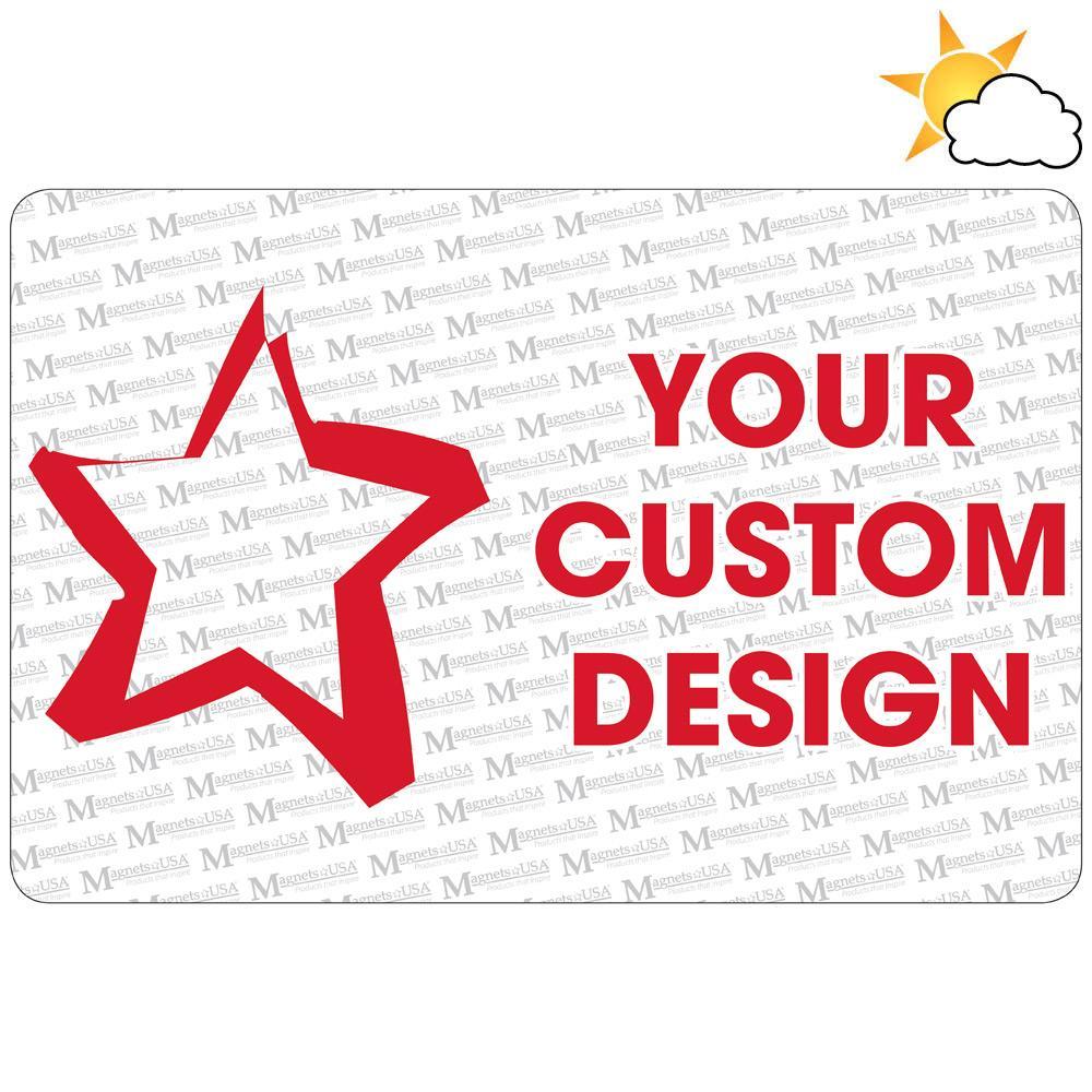 "Custom 12"" x 18"" Car Magnet"